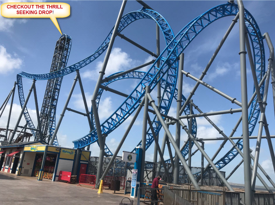 Pleasure Pier Shark Roller Coaster