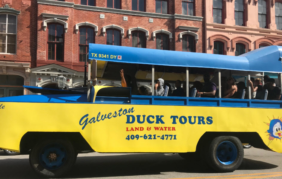 Duck tours bus on road